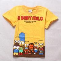 2015 New summer Tee T-shirt girls short sleeve cartoon shirts baby girl shirt cotton tops kids clothes WD2107