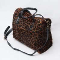 Drop shipping quality Leopard print horsehair genuine leather  cross-body women's handbag autumn and winter bag messenger bag