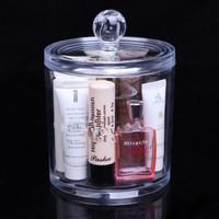 Free Shipping Desktop Acrylic Cosmetics Storage Box Plastic Transparent Cosmetic Organizer Case