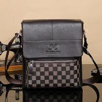 Men bags Real genuine leather men's briefcase business men's messenger bag shoulder bag ipad small men's travel bags 2015 NEW