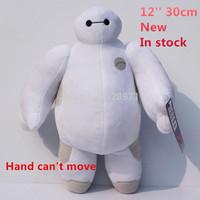 "Free Shipping 12""30cm Big Hero 6 Baymax cartoon plush toys Stuffed Animal Plush Toy With Tag Doll For Girl"