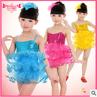 Children Ballet Dance Dress Costume Girls Sequin Dance Game Clothing Sequin Swan Dance Dress For Kids Girls Tutu Dress WDQ010