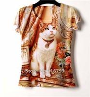 Promotion! new casual rock short woman t-shirt 3d print women tops camisetas