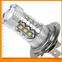 Osram Chip 80W H7 16 LED Car Fog Light Bulb Foglights High Bright LED Auto Car Fog lamp Foglamp with 360 Degrees Beam