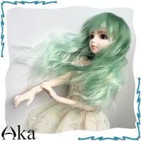 BJD SD Doll Light Green Wig Free Shipping
