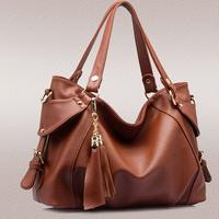 2015 Women messenger bags tassels handbag leather shoulder bag