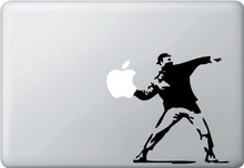 Molotov Guy Throwing A pple-Vinyl Decal Sticker Skin Cover for A pple M acbook air retina pro 13 inch Laptop Free Shipping