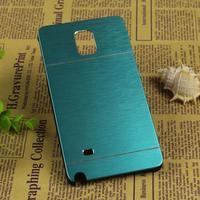 Free DHL! Deluxe Motomo Aluminum Burshed Metal Slim Ultra Thin Hybrid Hard Case Cover For Samsung Galaxy Note 4 N9100 MOQ:300pcs