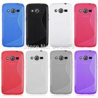 Soft TPU Gel S line Back Cover Skin Case For Samsung Galaxy Core LTE G386F