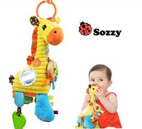 2014 New Arrival High Quality Sozzy Giraffe Bell,Baby Learning & education Toys,Baby car and bed rattles Children Classic toy