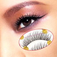 10Pairs Handmade Thick Curl Cross False Eyelashes Natural Makeup Eye Lashes
