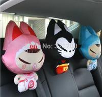 Creative car headrest cute cartoon neck guard Car pillows supplies automotive interior car neck pillow