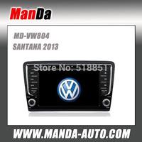 Manda 2 din touch screen car multimedia for VW SANTANA 2013 in-dash dvd  player gps satellite radio