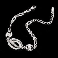 Elegant Geometry Graphics 2014 popular style Zinc Alloy Rhinestone Bracelet For Women's