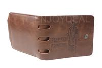 Original Designed Men Brown PU Leather Bifold Wallet Pocket Purse Wallet Pocket for CE certification