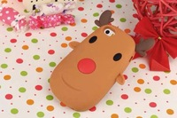 "New 3D Korean Brown Deer Case for Iphone6 Plus 5.5"" Brown Fawn Silicone Cover For Iphone6 4.7"" Giraffe Phone Case"