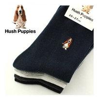 Hush Puppies Men's Socks Casual Combed Cotton Men Sock Fashion High Quality Boy Sport Socks 12pcs=6pairs/lot NFA079