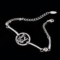 Letter J&Y Simple and easy design Zinc Alloy Rhinestone Bracelet for wonem