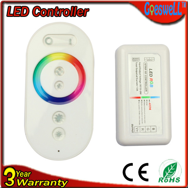 RGB контролер Strip rf controller DC12/24v 12 288w/433m LED 2 4ghz touch sense rgb led controller white dc12 24v