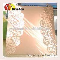 Luxury unique wedding invitation cards, laser cut wedding invitation card 2015