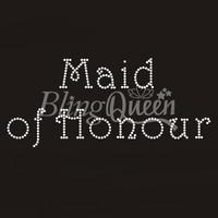 50PCS/LOT Custom Hot Fix Iron On Rhinestone Transfers Maid of Honour Design