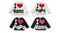 Hot sale,I love papa I love mama baby boy's/girl's t-shirt ,5pcs/lot in stock