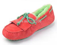 Free shipping Women Dakota slippers Winter 1003799 boat shoes natural sheepskin snow boots