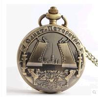 Animated cartoon antique Hollow out quartz pocket watch necklace children pendant 10pcs/lot