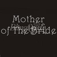 50PCS/LOT Custom Hot Fix Iron On Rhinestone Transfers Mother of The Bride Design