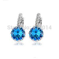 valentine's Day 30% silver jewelry wholesale Zircon earrings platinum plated stud earrings for women