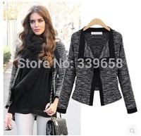 European and American women's new fall 2014 European leg of European and American long-sleeved sweater coat loose knit cardigan