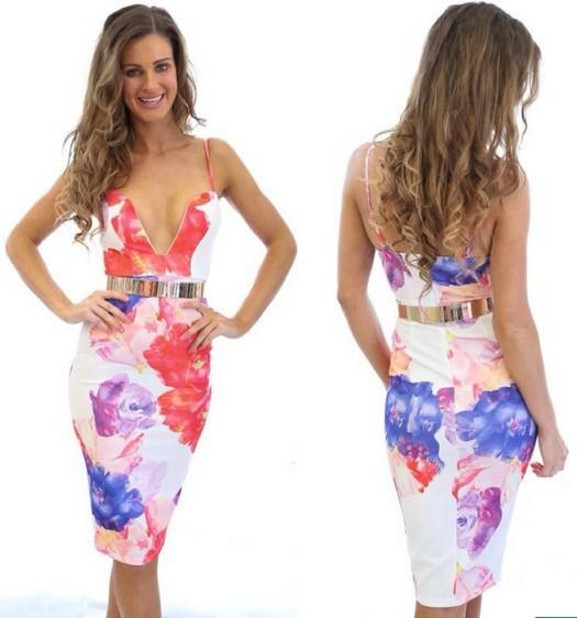Женское платье Sevenland store 2015 V Vestidos WX110402