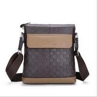 Real genuine leather men's briefcase business men's messenger bag 2015 new men bags shoulder bag ipad small men's travel bags