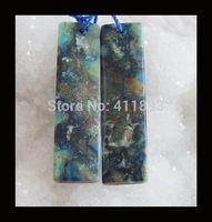 Chrysocolla Earrings Beads,43x11x5mm,9.4g
