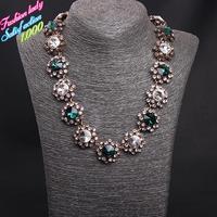 Fashion Statement vintage crystal choker bib collar necklaces for women 2015 High quality elegant shourouk necklaces 4512