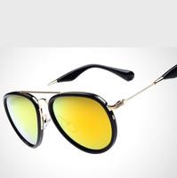 2015 New Metal Retro Star Style Brand Designer Colorful Women & Men Aviator Sunglasses UV400 Protection Shades Outdoor Goggles