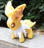 Free Shipping 5pcs/lot Pokemon Jolteon Soft Plush Eevee Toy 28cm Doll Christmas Gift