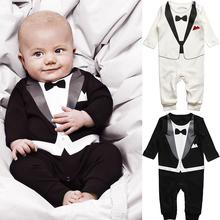 vendita calda primavera autunno insiemi dei vestiti del bambino pagliaccetto del bambino gentleman ragazzi vestiti del bambino copre i vestiti della maglietta pantaloni baby set 0 - 24 m(China (Mainland))