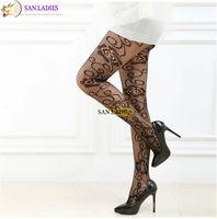 San.Ladies Brand Women Rose Flower Fishnet Stocking Pantyhose Hosiery , Women Tights Stocking Garment Free Shipping