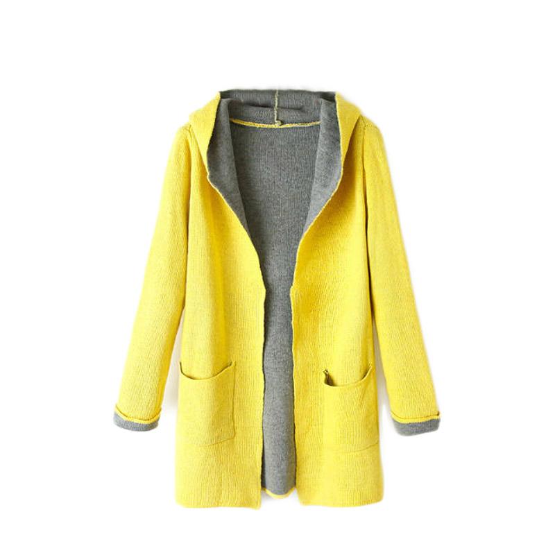 Com buy fashion womens girls autumn winter knitting pattern hooded