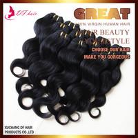 Woman Hair Braziliian Human Hair Extension Body Wave Style 6pcs Lot  Human Hair Weave Mixed Length 8-28 Natural Black