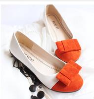 Hot new 2015 female shoe spring and autumn female Doug bow flats free shipping