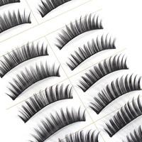 10 Pair Handmade Makeup Cosmetic Dense False Eyelashes Eye Lashes Extension