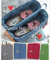 New  Canva Travel Bag Storage Organizer For Shoe Underwear Sock (30*23*10cm)