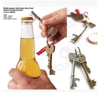 50pcs/lot Free shipping  keychain bottle opener beer corkscrew  friend /schoolmate birthday gift