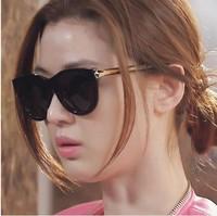 Sunglasses female big box sunglasses star style