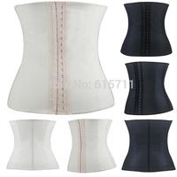 2015 Rubber Latex Steel Boned Corset Women Plus Size Waist Trainer Corset Underbust Bustiers Slimming Body Shaper XS-3XL
