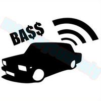 Car decal DUB car audio bass12cm x 7.8cm  car truck vinyl cut reflective waterproof stickers