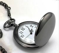 47X47MM New Arrival Big Size Black Polish Pocket Watch free shipping 1pcs/lot