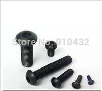 250Pcs/lot Black Alloy Steel M4x6 Hexagon socket button head screw Grade 10.9